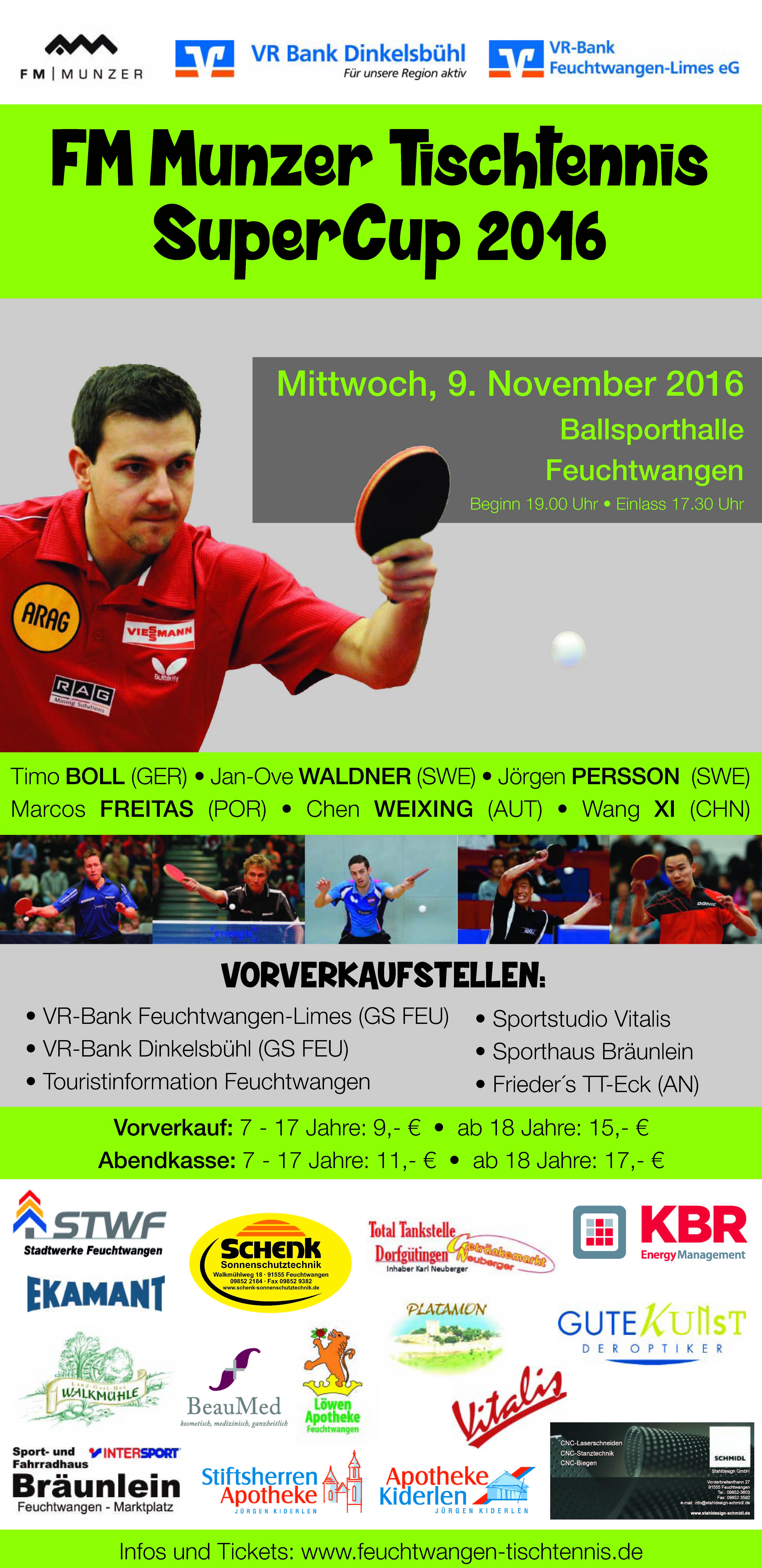 Ekamant Deutschland Gmbh Tischtennis Supercup 2016